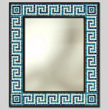 """GREEK"" HAND PAINTED CERAMIC MIRROR cm 74x84"