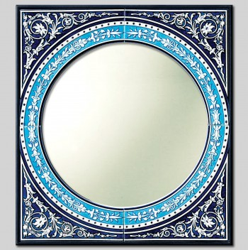"""EMPIRE"" HAND PAINTED CERAMIC MIRROR cm 71x64"