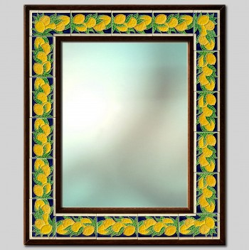 Lemons Hand Painted Ceramic Mirror (small) cm 55X66